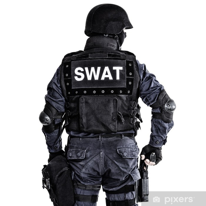 Fototapeta winylowa Oficer SWAT - Życie