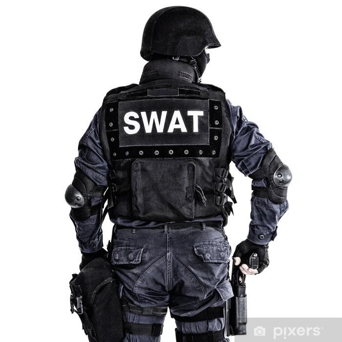 Sticker Pixerstick Officier SWAT - Vie