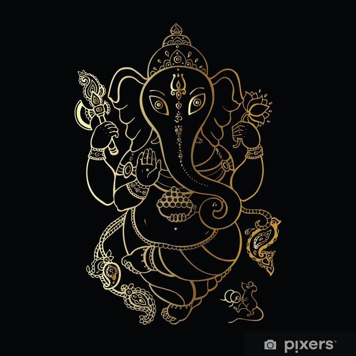 Ganesha Hand drawn illustration. Vinyl Wall Mural - Styles