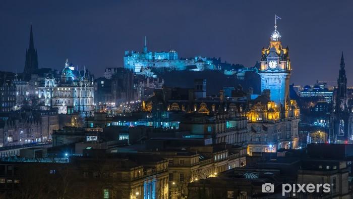 Fototapeta zmywalna Edynburg Skyline w nocy - Tematy