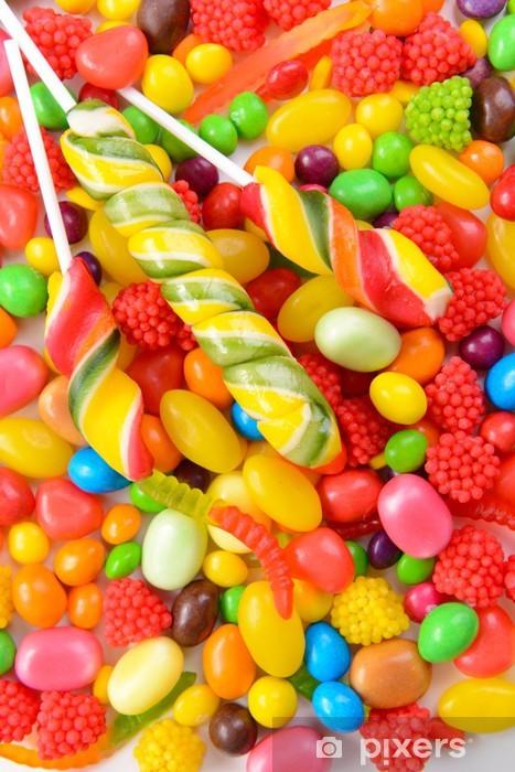 Nálepka Pixerstick Různé barevné ovocné bonbóny close-up - Ovoce