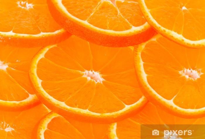 Vinyl Fotobehang Gezond voedsel, achtergrond. oranje plakken - Thema's