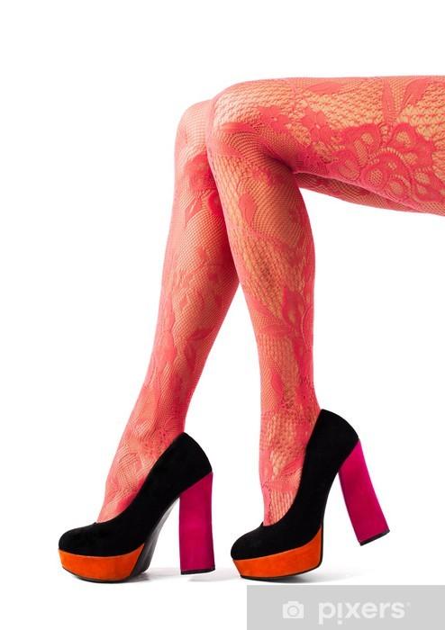 adesivo belle donne gambe con calze rosse e scarpe tacco alto pixers viviamo per il cambiamento adesivo belle donne gambe con calze rosse e scarpe tacco alto pixers viviamo per il cambiamento