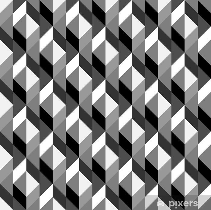 Pixerstick Sticker Naadloze geometrische patroon - Kunst en Creatie