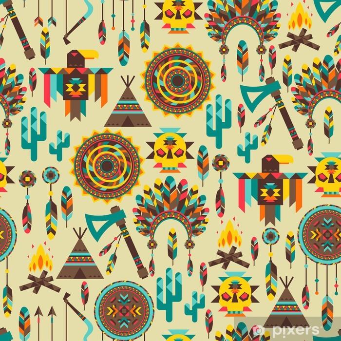 Plakat Etnicznych powtarzalny deseń w stylu macierzystego. - Style