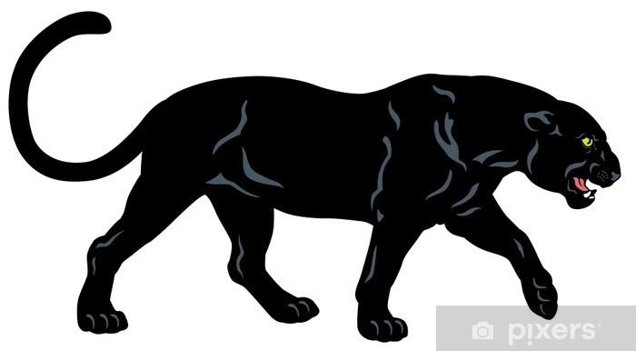 Papier peint vinyle Black panther - Mammifères