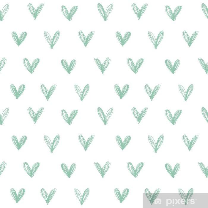 Poster Seamless avec des coeurs dessinés à la main - Bonheur