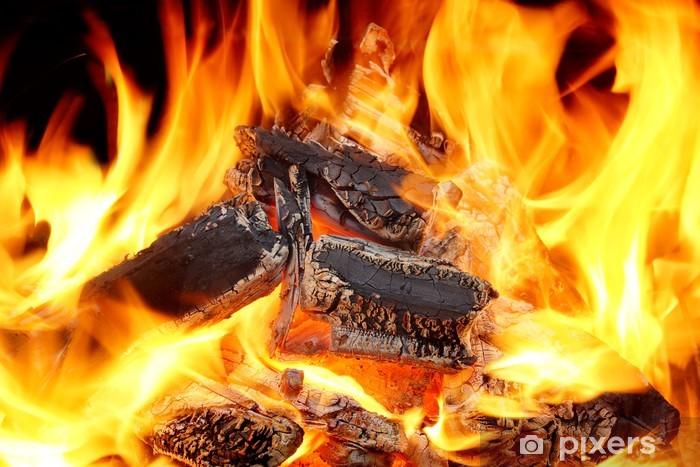 Fotomural Estándar Llamas ardientes y brillantes carbón XXXL HDR - Texturas