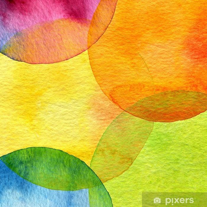 Carta da Parati in Vinile Astratto sfondo acquerello cerchio dipinto - Stili