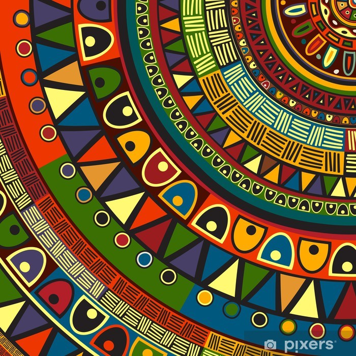 Pixerstick Sticker Gekleurd tribal design - Stijlen