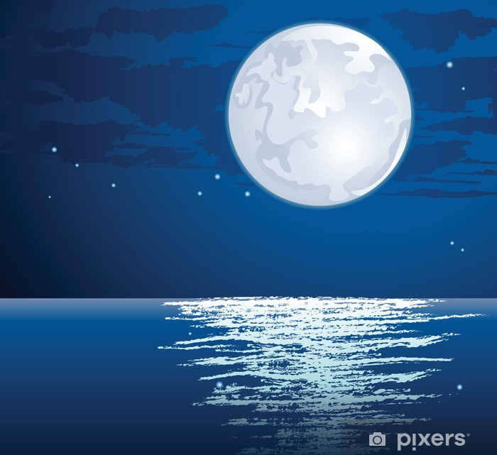 Plakat Księżycowy - Tła