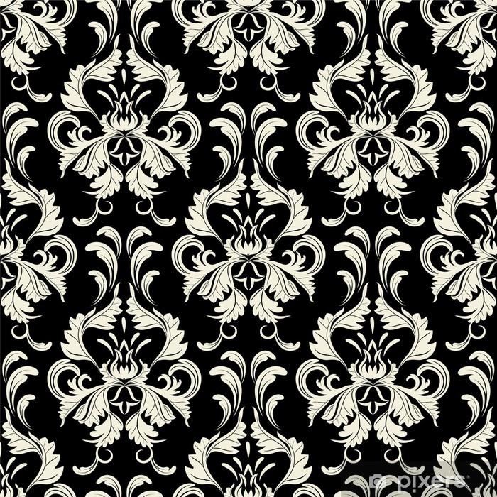 Poster Vecteur toile de fond sans soudure. motif de damassé. Papier peint à fleurs - Styles