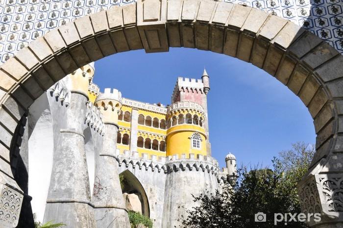 Sticker Pixerstick Palais National de Pena à Sintra, au Portugal. - Villes européennes