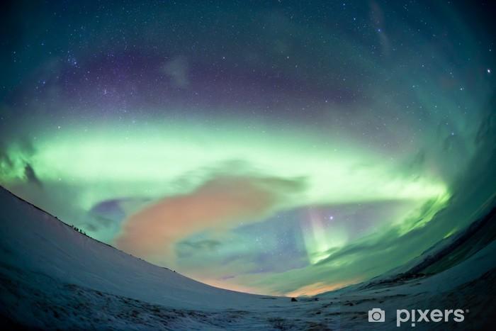 Fototapeta winylowa Północna Szwecja - Northern Lights Aurora - Cuda natury