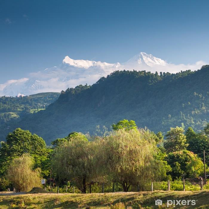 Sticker Pixerstick Magnifique paysage de montagnes de l'Himalaya - Thèmes