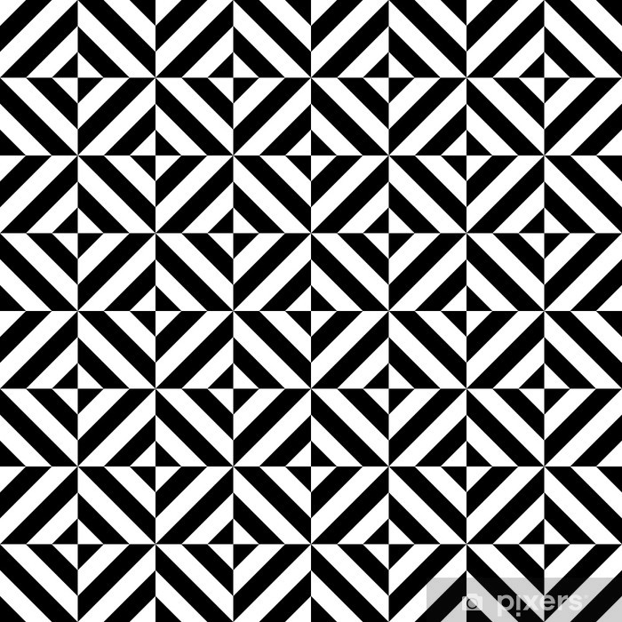 Naklejka na biurko i stół Czarno-biały powtarzalne geometryczny kształt rombu wzór, wektor - Style