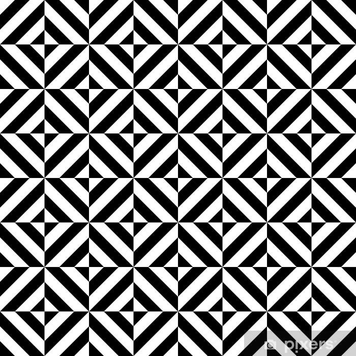 Tischaufkleber und Schreibtischaufkleber Schwarze und weiße geometrische Rautenform nahtlose Muster, Vektor - Stile