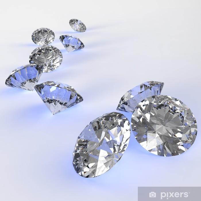Papier peint vinyle Diamants 3d dans la composition en tant que concept - Destin