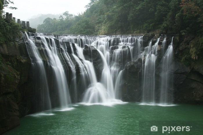 Waterfall Pixerstick Sticker - Holidays