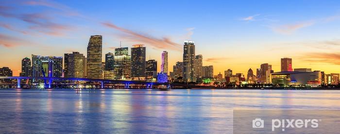 Vinyl Fotobehang Panoramische zonsondergang, Miami - Amerika