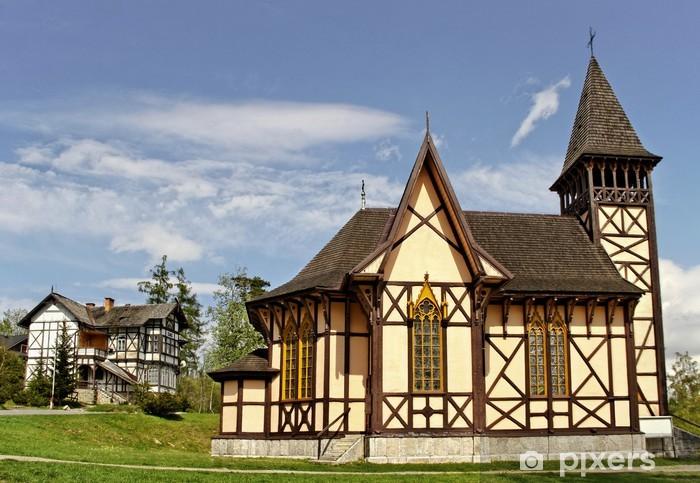 Naklejka Pixerstick Footpash w Tatrach. - Europa