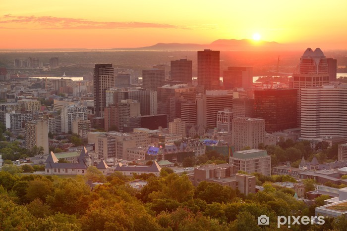 Sticker Pixerstick Montréal lever du soleil - Monuments