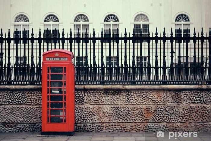 Papier peint vinyle Londres cabine téléphonique - Monuments