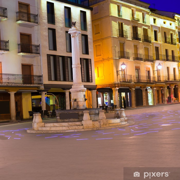 Plakát Aragon Teruel Torico náměstí na náměstí Carlose Castel Španělsko - Evropa