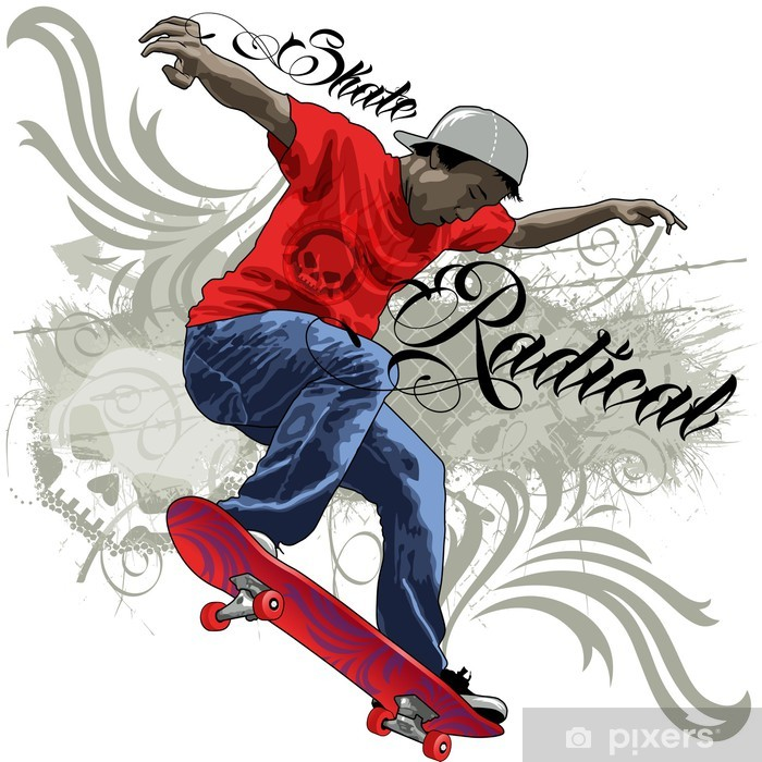 Skateboard Live Wallpaper: Skate Radical Sticker €� Pixers® €� We Live To Change