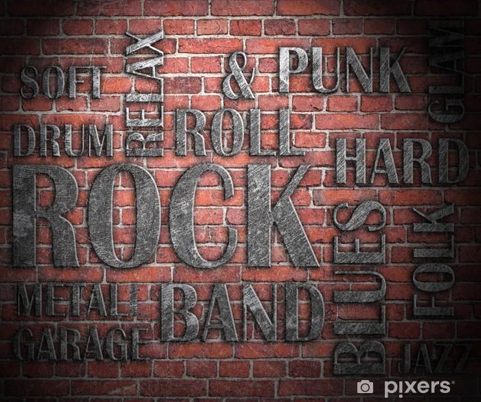 Vinilo Pixerstick Grunge roca cartel de la música - Rock