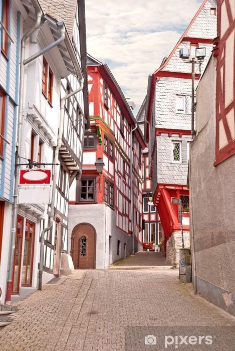In der 'Kleine Rütsche' in der Altstadt von Limburg an der Lahn Vinyl Wall Mural - Themes