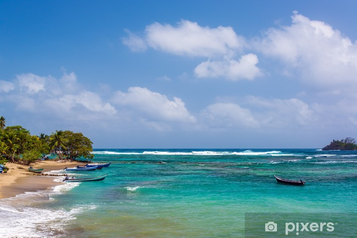 Naklejka Pixerstick Piękne Karaiby wody - Ameryka