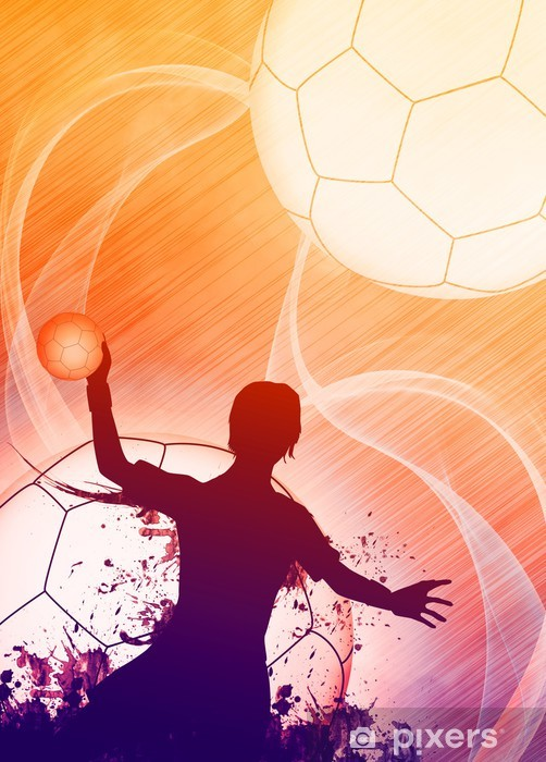 Bord- og skrivebordsklistremerke Håndball jente bakgrunn - Lagidrett
