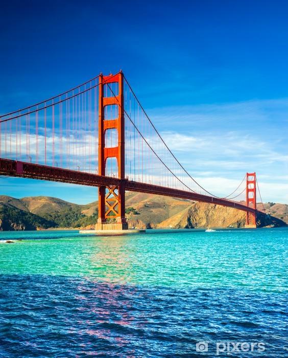 Naklejka Pixerstick Golden Gate, San Francisco, Kalifornia, USA. - Miasta amerykańskie
