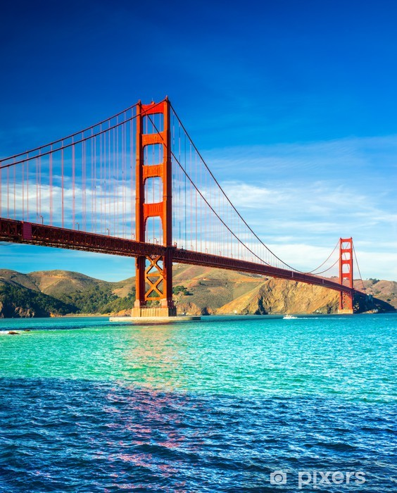 Golden Gate, San Francisco, California, USA. Pixerstick Sticker - American Cities