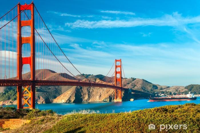 Pixerstick Sticker Golden Gate, San Francisco, Californië, USA. - Continenten