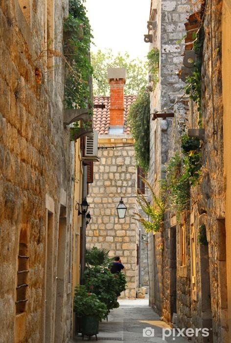 Fotomural Estándar Casas y arquitectura de la ciudad croata de Ston - Europa