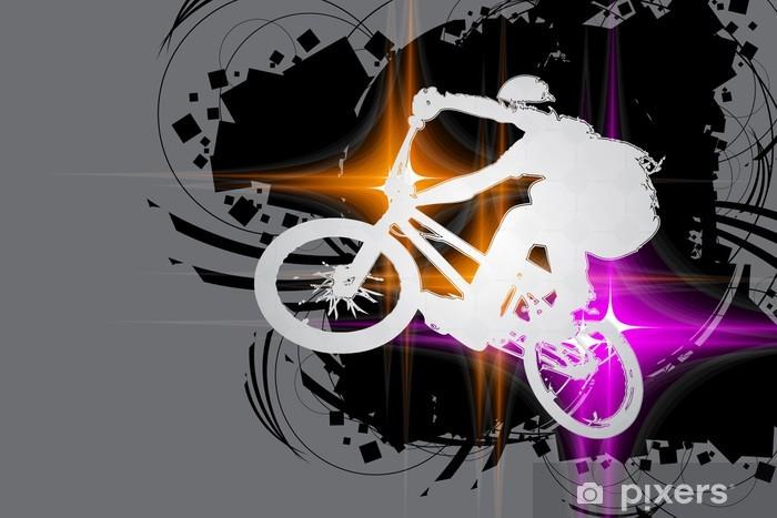 Papier peint vinyle Cycliste BMX - Sports individuels