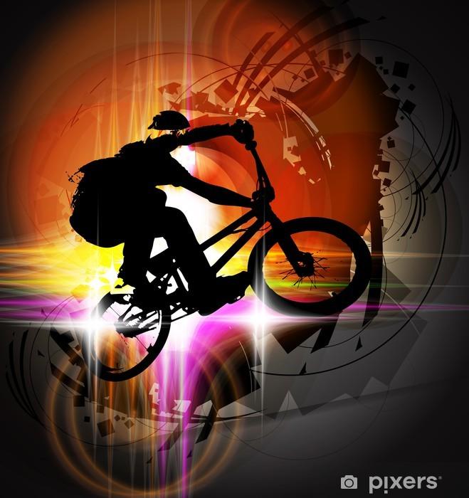 Papier peint vinyle Cycliste BMX - Cyclisme