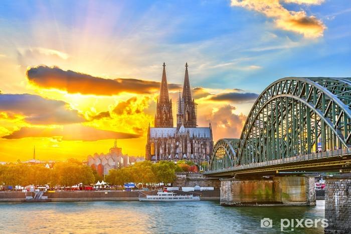 Sticker Pixerstick Cologne au coucher du soleil - Thèmes