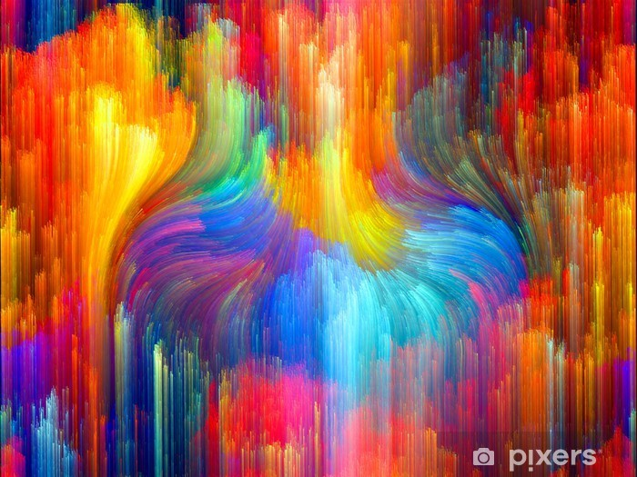 Vinyl Fotobehang Virtual Kleur - Wonderen der Natuur