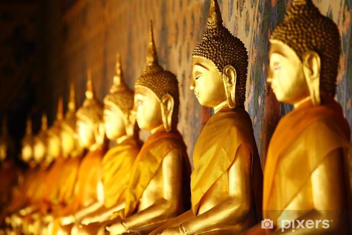 Zelfklevend Fotobehang Gouden Boeddha in tempel - Thema's