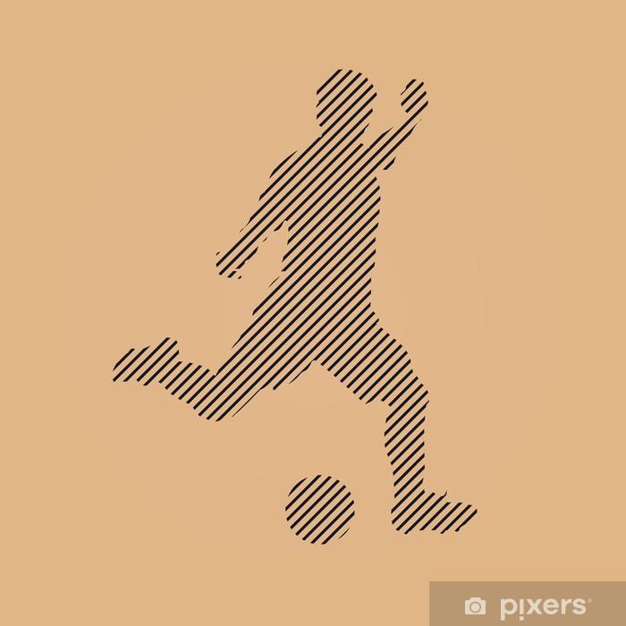 Aufkleber Form Kontur Fussball Fussball Symbol Pixerstick
