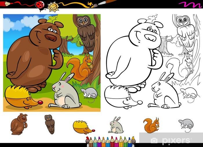 Sayfa Grubunu Boyama Vahsi Hayvanlar Kapi Cikartmasi Pixers