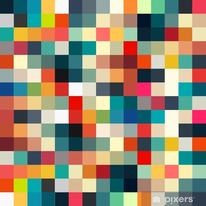 Fototapeta winylowa Abstrakcyjne geometryczne retro wzór dla projektu - Style
