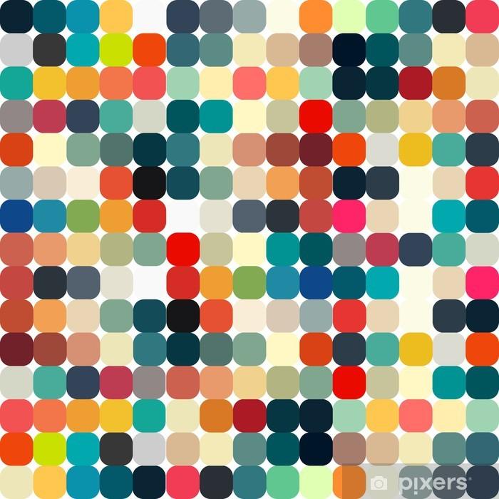 Pixerstick Sticker Abstracte geometrische retro patroon naadloos voor uw ontwerp - Stijlen