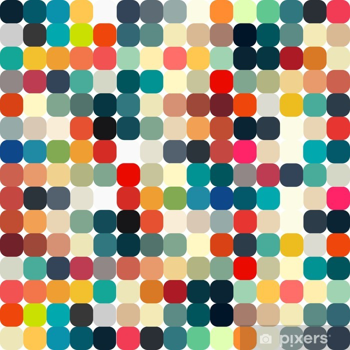 Abstract geometric retro pattern seamless for your design Vinyl Wall Mural - Styles