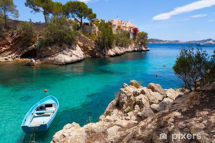 Vinyl Fotobehang Cala Fornells View in Paguera, Mallorca - Thema's