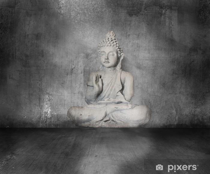 Papier peint vinyle Bouddha avec grunge - Art et création