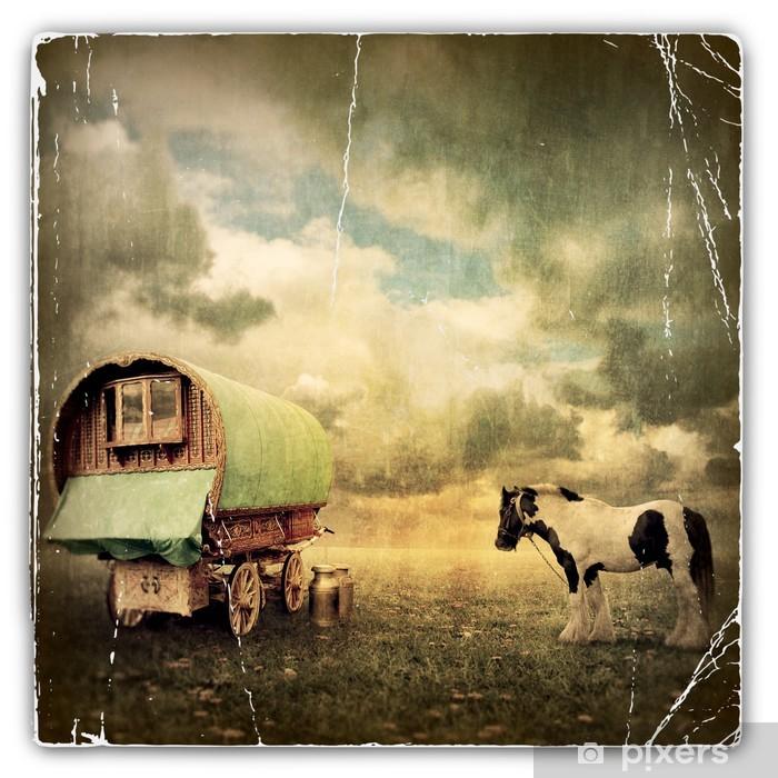 Gypsy Wagon, Caravan Vinyl Wall Mural - Themes